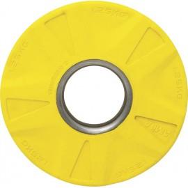 Δίσκος 1.25 κιλών με επένδυση λαστίχου , ολυμπιακού τύπου Κίτρινο 84570