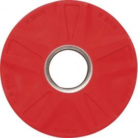 Δίσκος 2,5 κιλών με επένδυση λαστίχου , ολυμπιακού τύπου Κόκκινο 84571