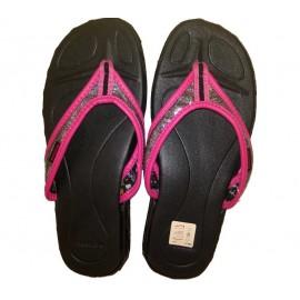 Παιδικές παντόφλες Reebok Bling City μαύρες/ροζ (7F 343418)