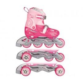 Αυξομειούμενο πατίνια Inline Quads Roller Skate Girl Nijdam 52QP